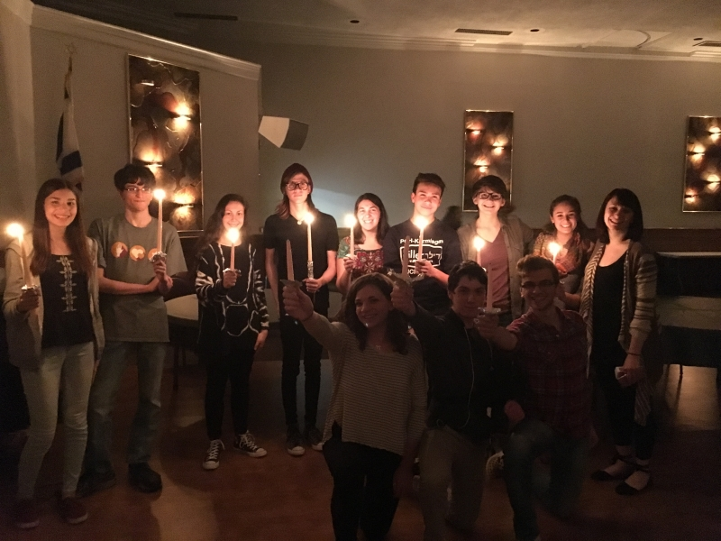 Candle Lighting ceremony with teens