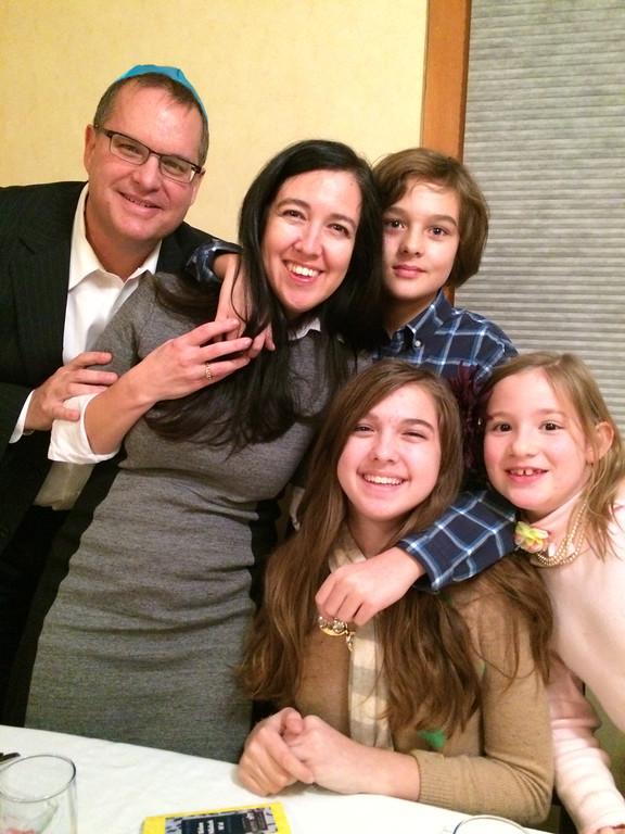 Family at Shabbat Tables