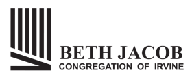 Logo for Beth Jacob Congregation of Irvine