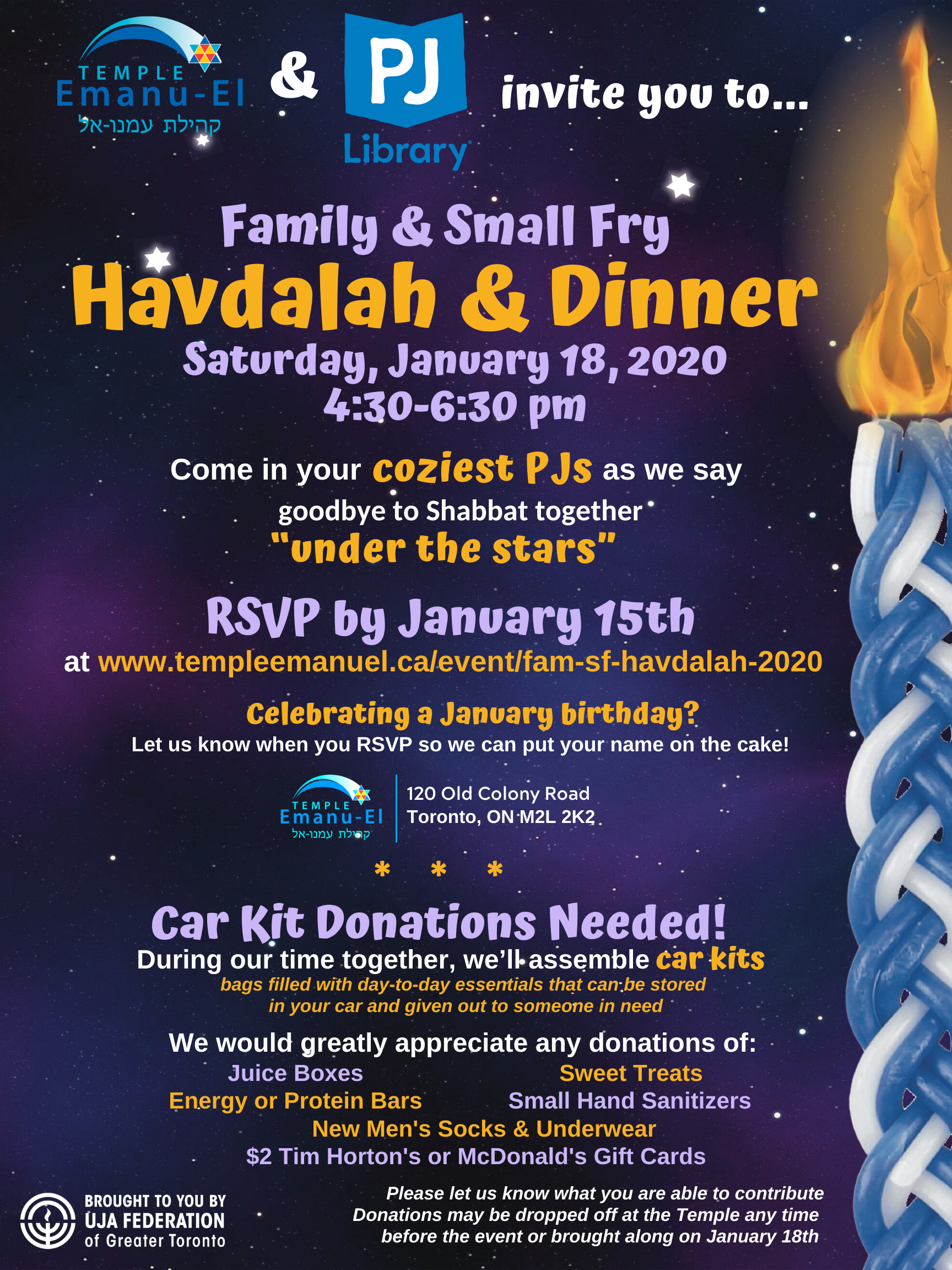Family & Small Fry Havdalah