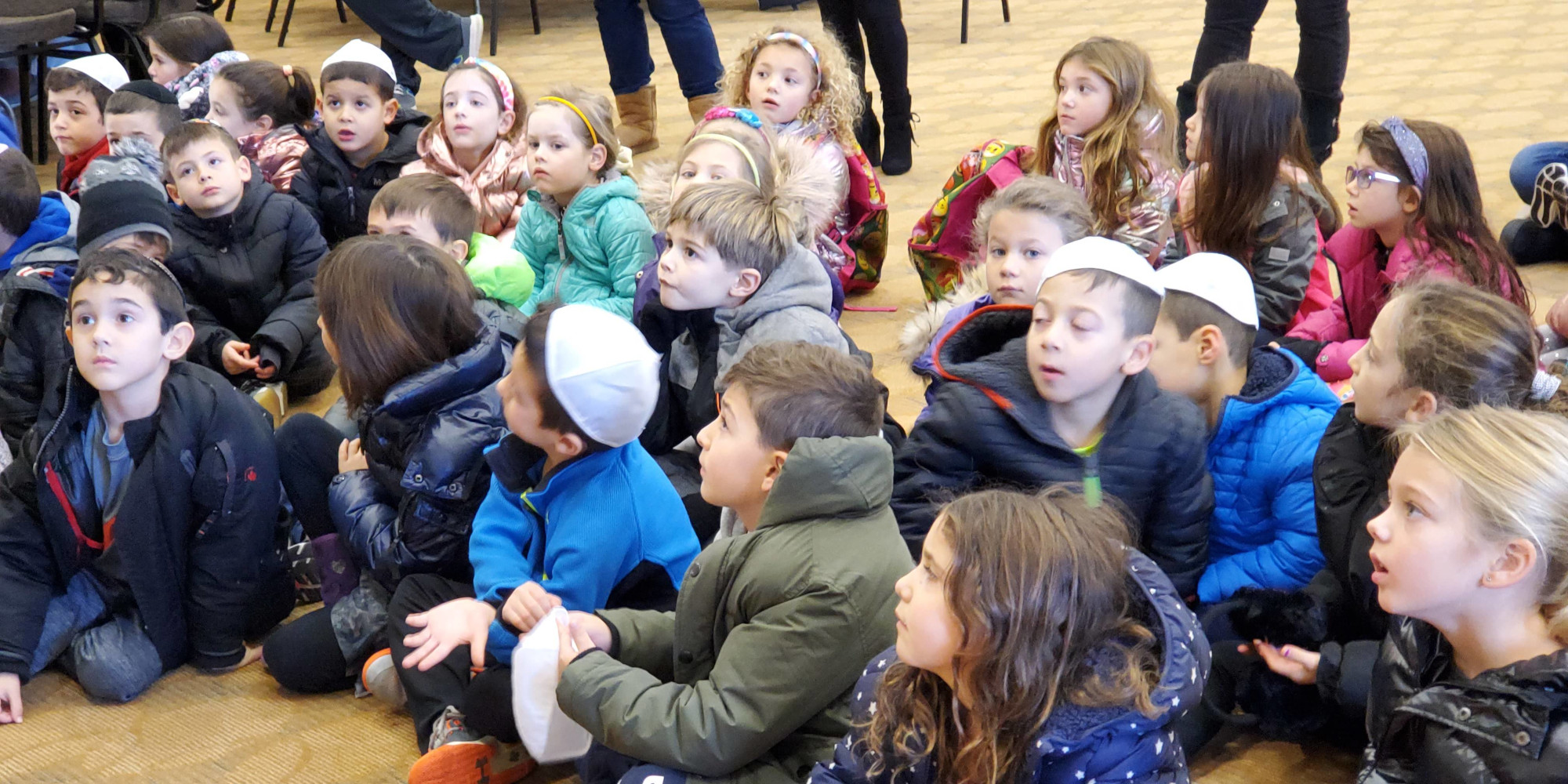 """<span class=""""slider_title"""">                                     We're Writing a Torah This Year                                </span>                                                                                                                                                                                       <span class=""""slider_description"""">And the children are learning about this time-honored mitzvah</span>"""