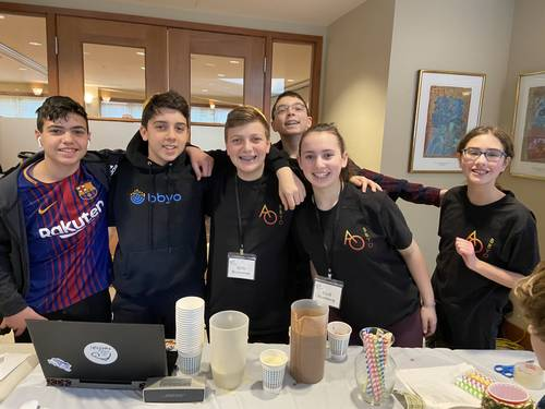 BBYO teens at their February 2020 Smoothie Sale