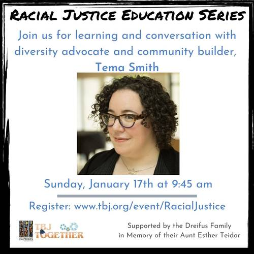 Banner Image for Racial Justice Education Series: Guest Speaker - Tema Smith