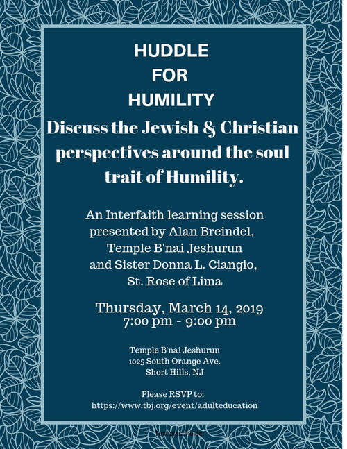 Banner Image for Huddle for Humility: Christian and Jewish perspectives around the soul trait of Humility