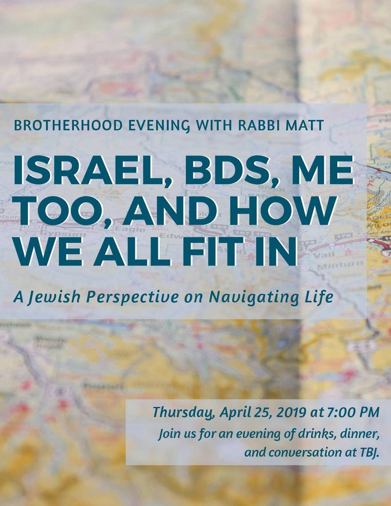 Banner Image for Brotherhood Evening with Rabbi Matt