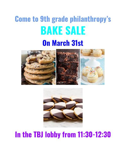 Banner Image for 9th Grade Philanthropy Bake Sale