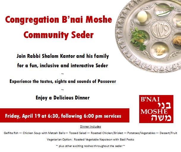 Banner Image for B'nai Moshe Community Seder