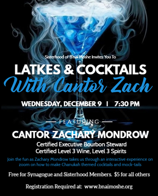 Banner Image for Latkes and Cocktails with Cantor Zach