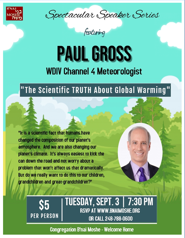 Banner Image for Spectacular Speaker Series featuring WDIV Meteorologist Paul Gross