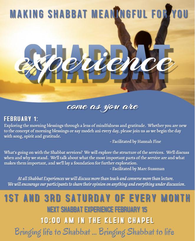 Banner Image for Experience Shabbat - Shabbat Experience