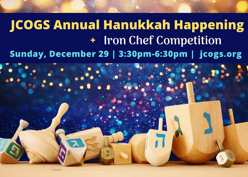 Banner Image for JCOGS Annual Hanukkah Happening + Iron Chef Competition