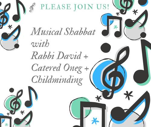 Banner Image for Musical Shabbat + catered oneg by Sushi Yoshi + childminding