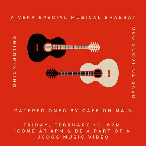 Banner Image for Musical Shabbat + catered oneg by Cafe on Main + childminding