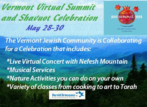 Banner Image for Vermont Virtual Summit and Shavuot Celebration