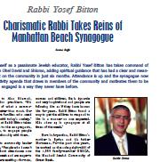 Rabbi Takes Reins