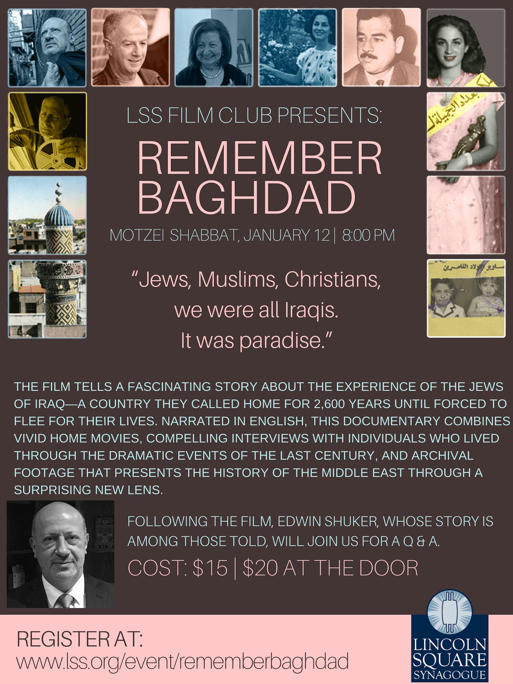 LSS Film Committee: Remember Baghdad