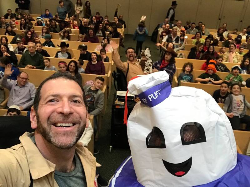"<span class=""slider_description"">Who you gonna call? We had a wild time at this year's family Megillah reading</span>"