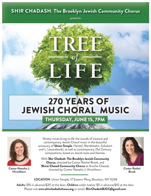 TREE OF LIFE: 270 years of Jewish Choral Music - Event
