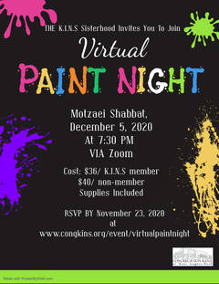 KINS Sisterhood Virtual Paint Night