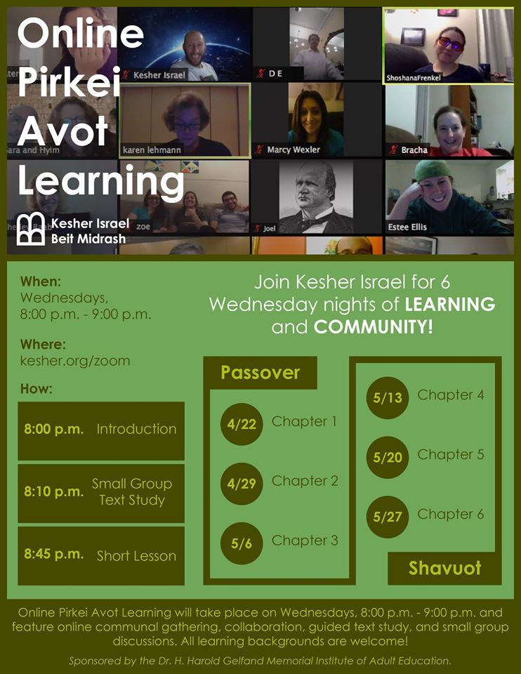 Banner Image for Online Pirkei Avot Learning