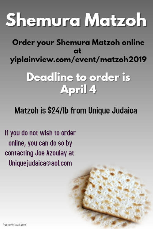 Weekly Announcements - Young Israel of Plainview