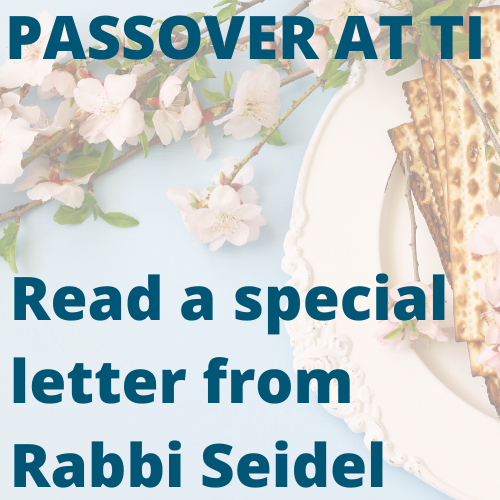 A special letter from Rabbi Seidel