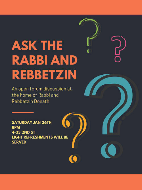 Banner Image for Q&A with the Rabbi & Rebbetzin