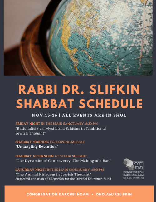 Banner Image for Scholar-in-Residence: Rabbi Dr. Natan Slifkin