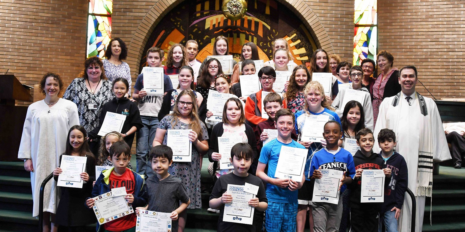 """<a href=""""/education/religious-school""""                                     target="""""""">                                                                 <span class=""""slider_title"""">                                     The Temple Emeth Religious School Moves Up                                </span>                                                                 </a>                                                                                                                                                                                       <span class=""""slider_description"""">Our Religious School marks the end of another successful year.</span>                                                                                     <a href=""""/education/religious-school"""" class=""""slider_link""""                             target="""""""">                             Learn more about our Religious School                            </a>"""