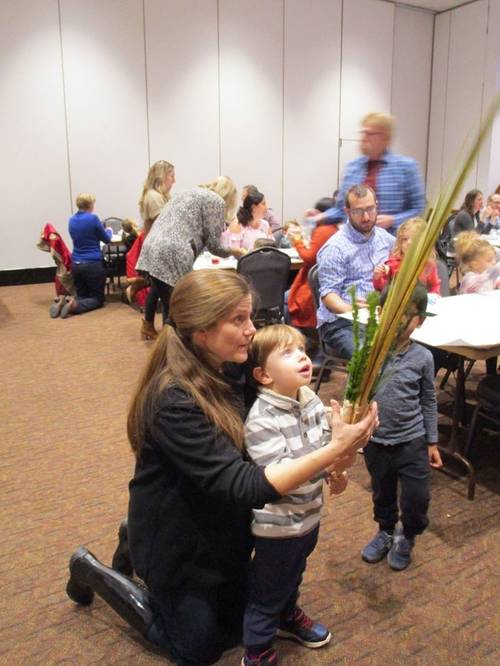 Sukkot at the Temple with Young Families