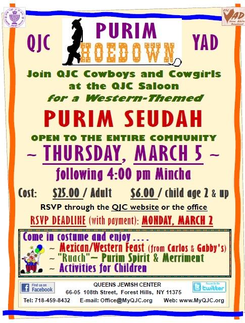 Purim Seudah - Event - Queens Jewish Center