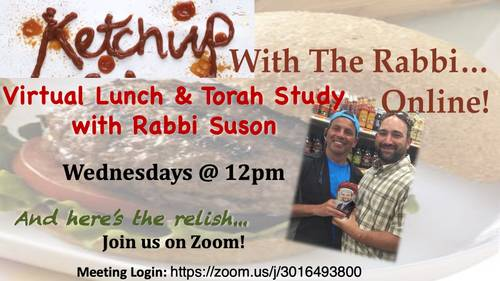 Banner Image for Ketchup with the Rabbi Online!