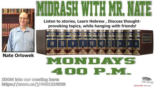 Banner Image for Midrash with Mr. Nate!
