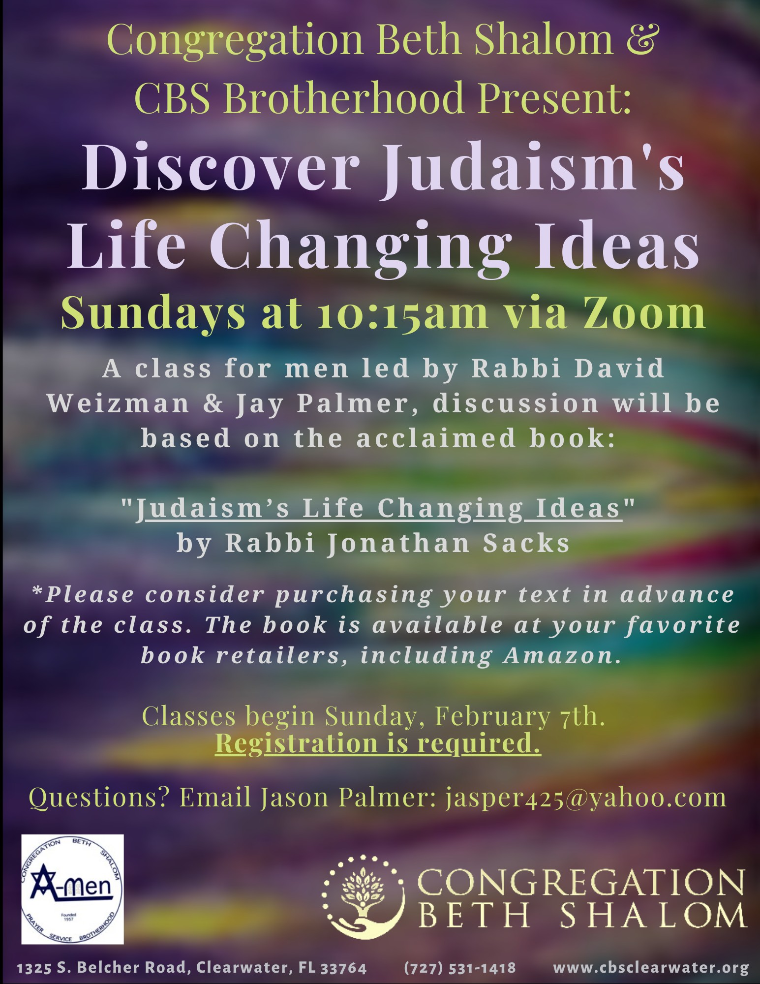 """</a>                                                                                                                                                                                       <span class=""""slider_description"""">A Class for Men: Join Rabbi David Weizman & Jay Palmer for weekly discussions based on the acclaimed book. Register now!</span>"""