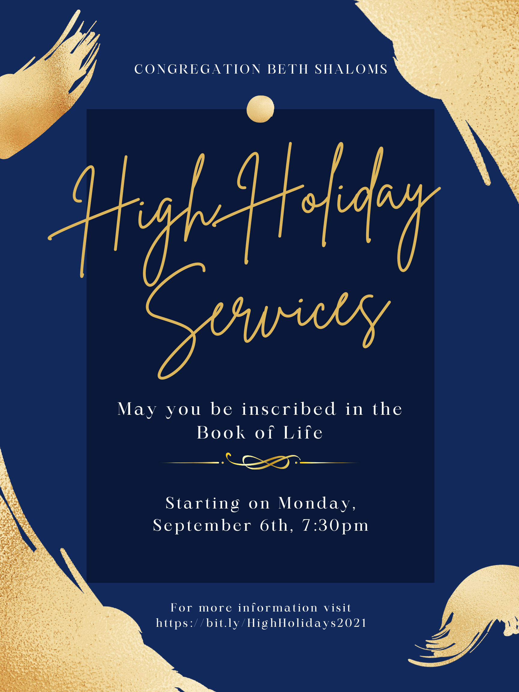 """</a>                                                                                                                                                                                       <span class=""""slider_description"""">Join Congregation Beth Shalom either in-person or digitally for our High Holiday Services! Click here to get service times, and to reserve your seats!</span>                                                                                     <a href=""""https://www.cbsclearwater.org/cbs-high-holy-days-5782.html"""" class=""""slider_link""""                             target=""""_blank"""">                             Click to RSVP for Services                            </a>"""