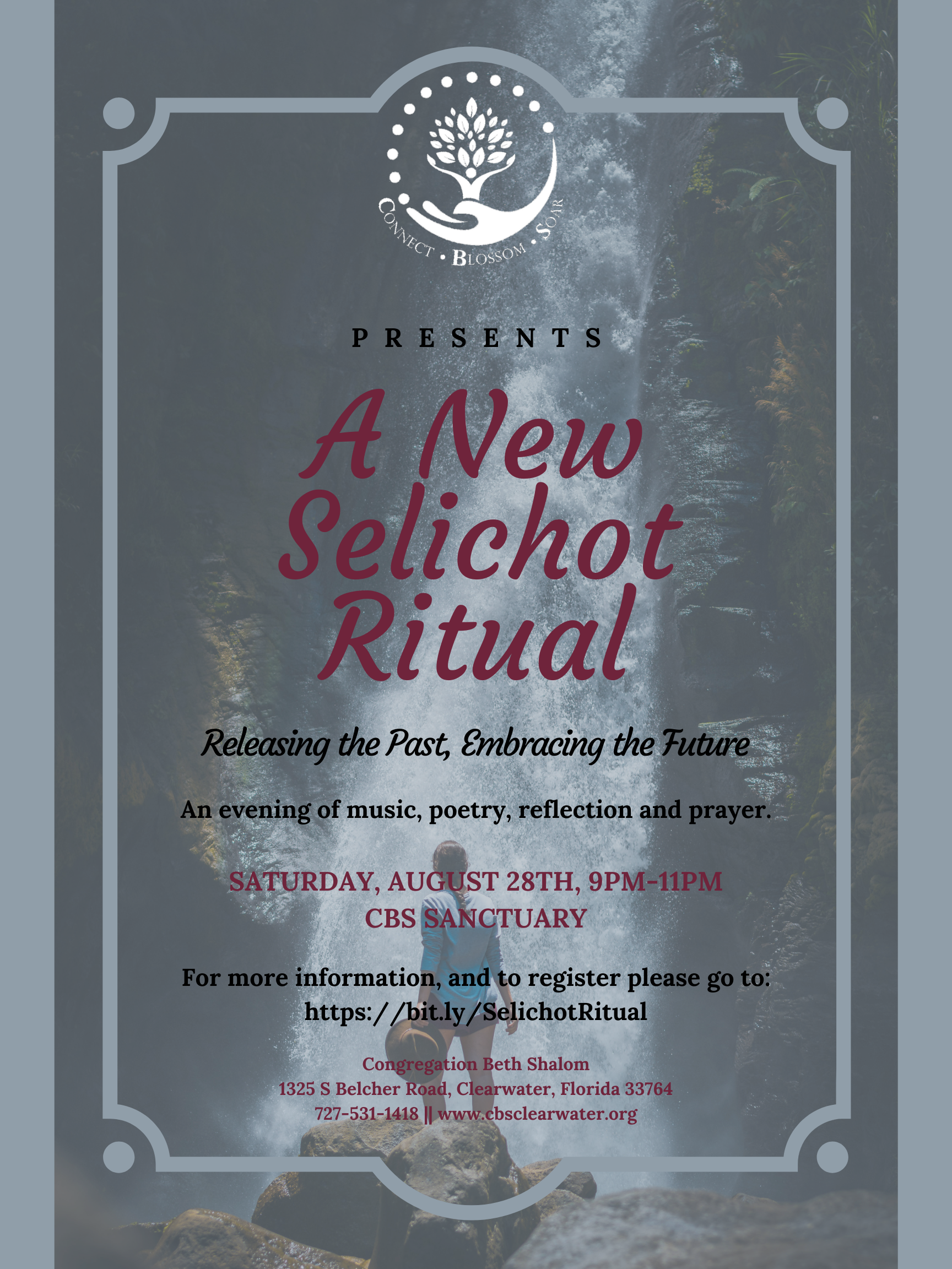 """</a>                                                                                                                                                                                       <span class=""""slider_description"""">An evening for creative reflection with Rabbi Danielle Upbin!</span>                                                                                     <a href=""""https://www.cbsclearwater.org/event/a-new-selichot-ritual-releasing-the-past-embracing-the-future.html"""" class=""""slider_link""""                             target=""""_blank"""">                             Click HERE to register!                            </a>"""