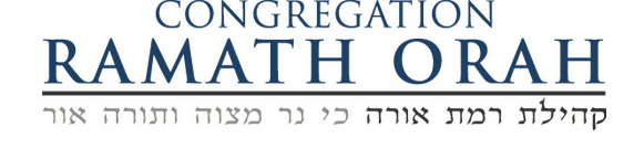Logo for Congregation Ramath Orah