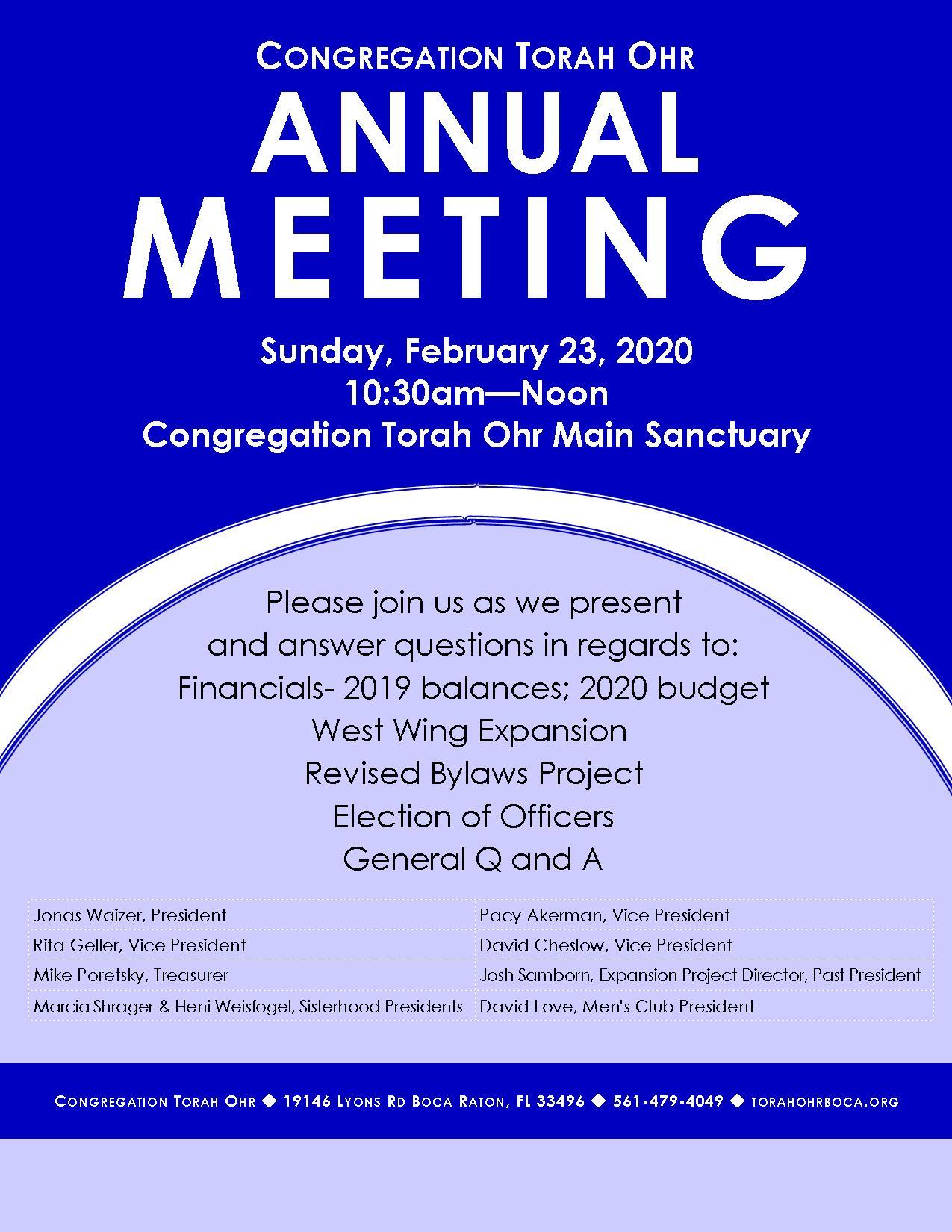 "<a href=""https://images.shulcloud.com/590/uploads/5780/AnnualMeeting.pdf""                                     target=""_blank"">                                                                 <span class=""slider_title"">                                     Congregation Torah Ohr Annual Meeting - 10:30am 2/23/2020                                </span>                                                                 </a>"