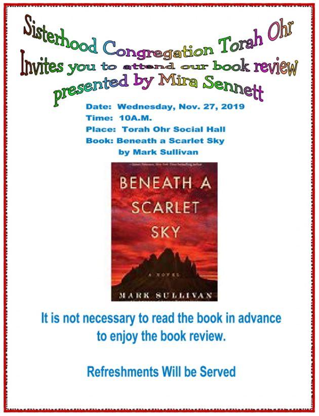 """<a href=""""https://images.shulcloud.com/590/uploads/5780/Sisterhood/2019-11-27BookReviewBeneathAScarletSky.PDF""""                                     target=""""_blank"""">                                                                 <span class=""""slider_title"""">                                     Book Review with Mira Sennett                                </span>                                                                 </a>"""