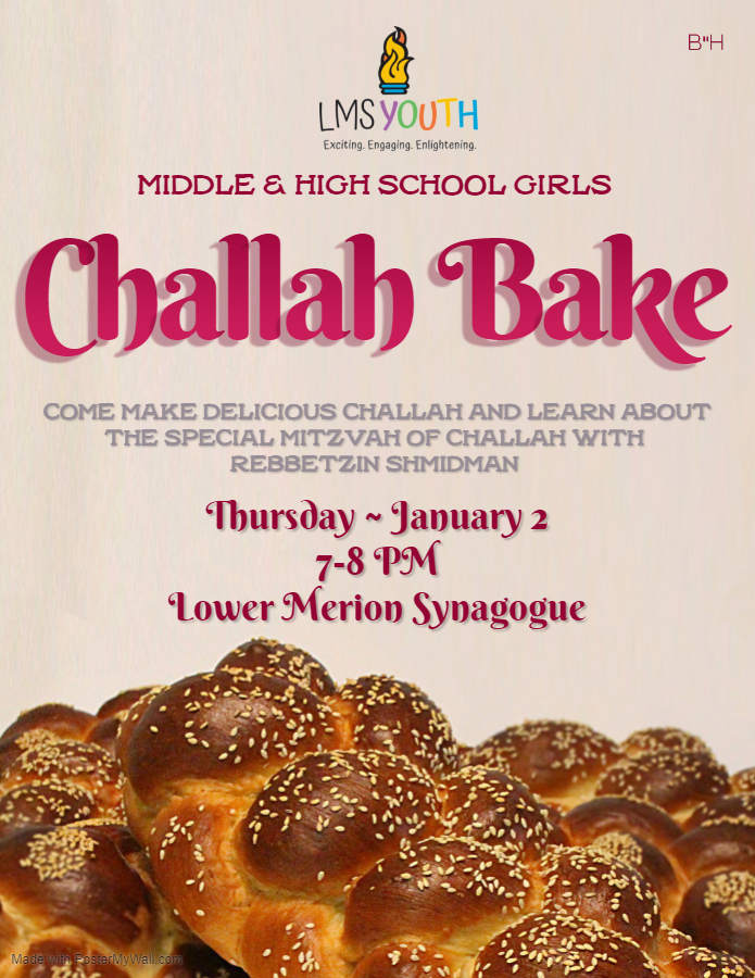 Banner Image for Middle & High School Girls Challah Bake