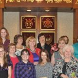 Sisterhood members at the Sisterhood Shabbat