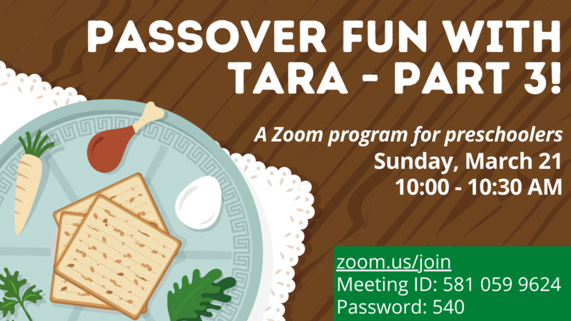 Banner Image for Passover Fun with Tara - Part 3
