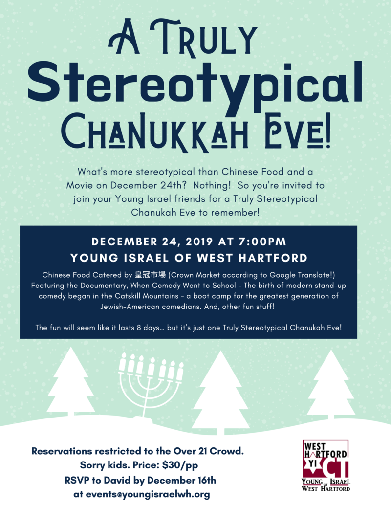 Banner Image for A Truly Stereotypical Chanukah Eve