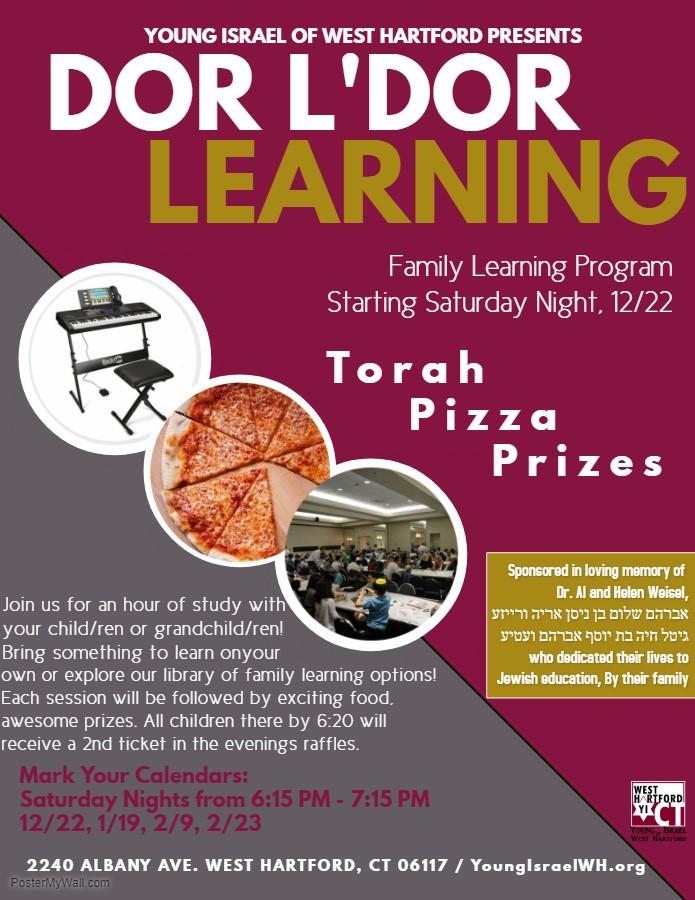 Banner Image for Dor L'Dor Family Learning Program