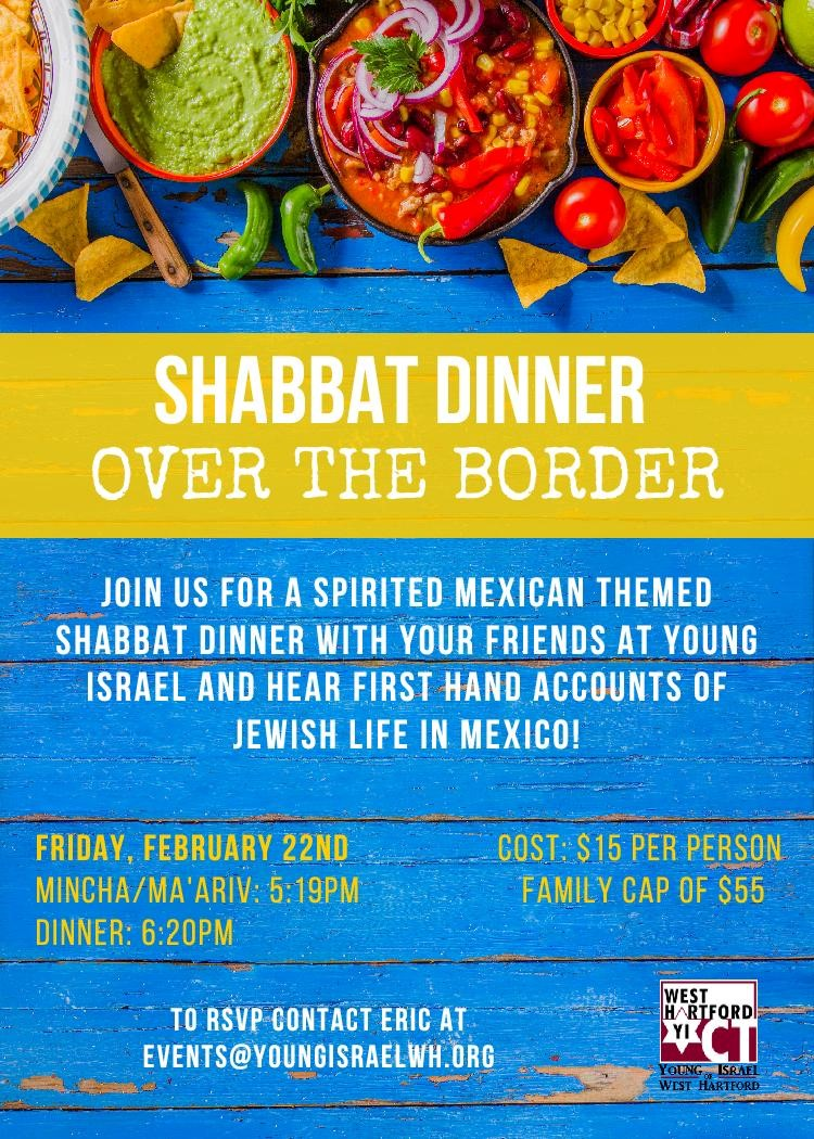 Banner Image for Shabbat Dinner Over the Border