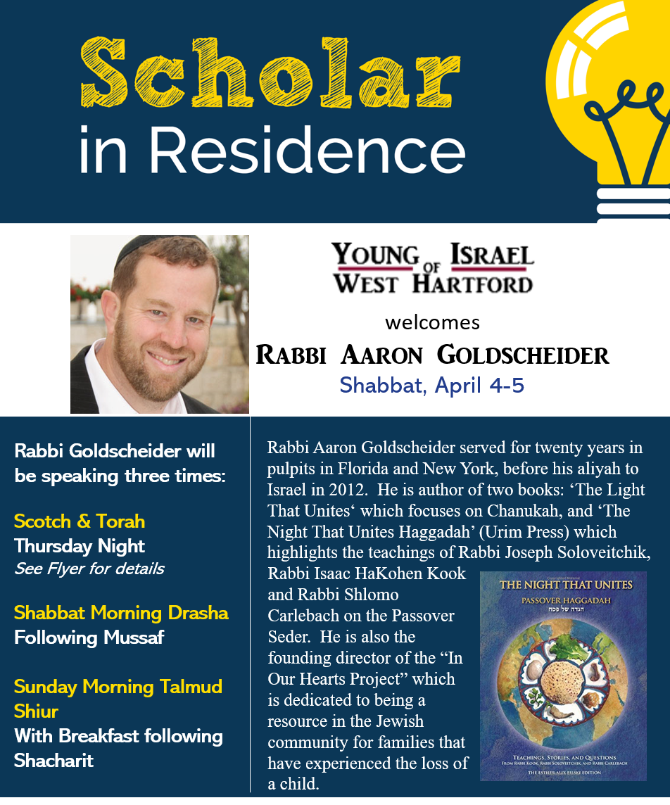 Banner Image for Scholar in Residence: Rabbi Aaron Goldscheider