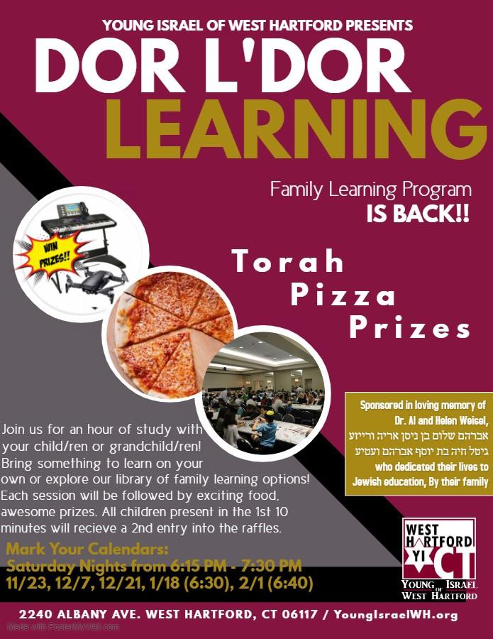 Banner Image for Dor L'Dor Learning