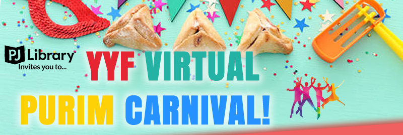 Banner Image for YYF Virtual Purim Carnival