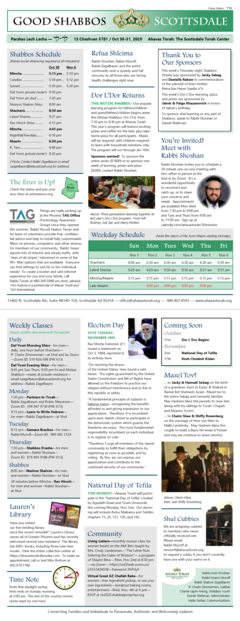 """Good Shabbos Scottsdale"" Newsletter - Parshas Lech Lecha"