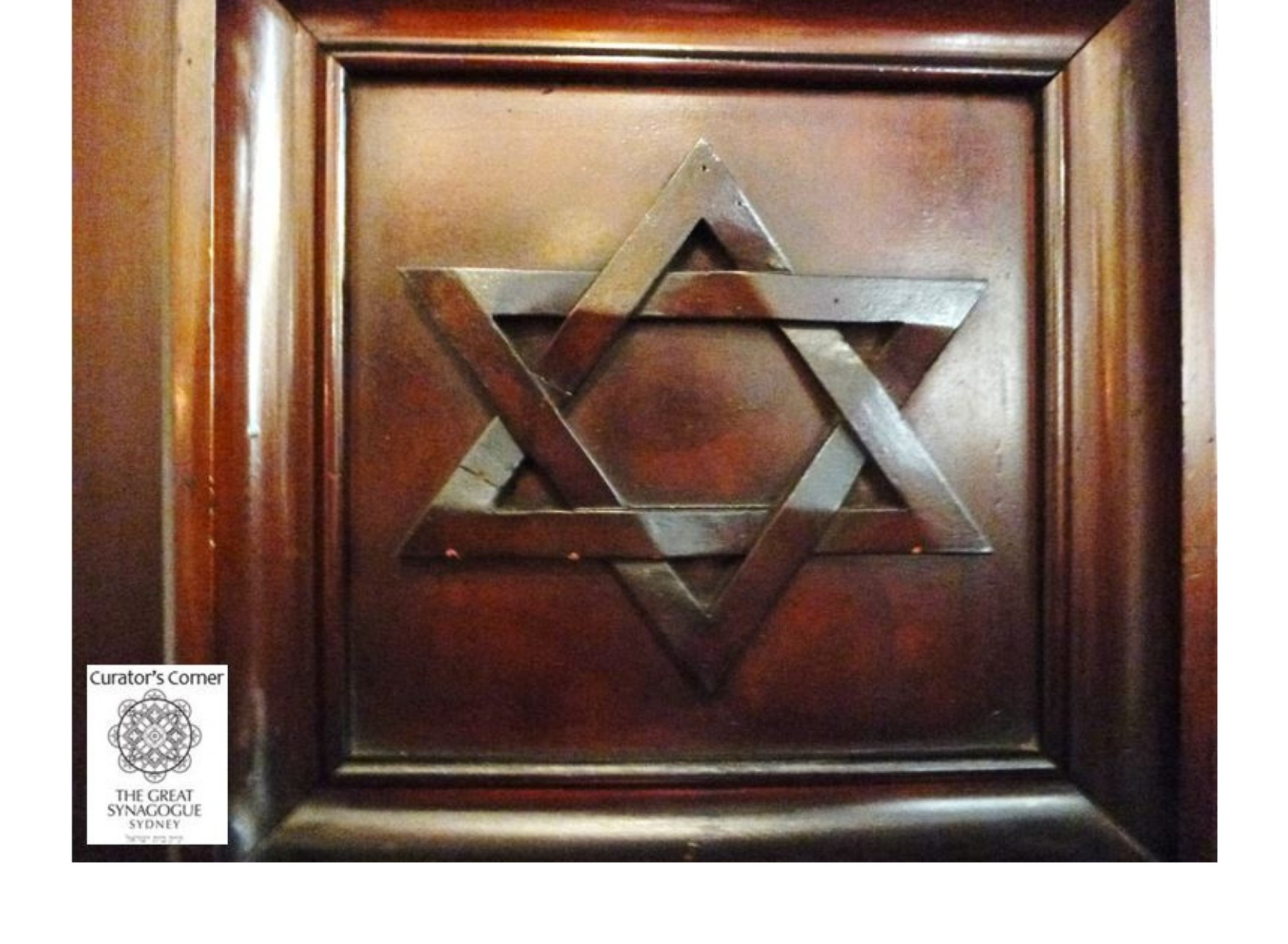 "<span class=""slider_description"">1 of 7. Magen David detail in Martin Luther Church.</span>"